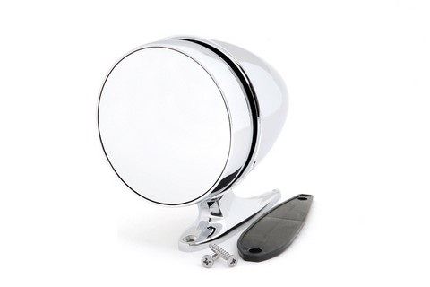 65-68 RH LONG BASE SHELBY BULLET MIRROR - CONVEX