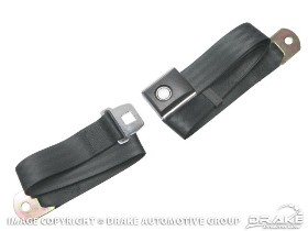 SEAT BELT - BLACK LAP - WRINKLED WITH PUSH BUTTON