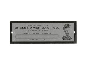67-68 SHELBY SERIAL NUMBER DATA PLATE TAG