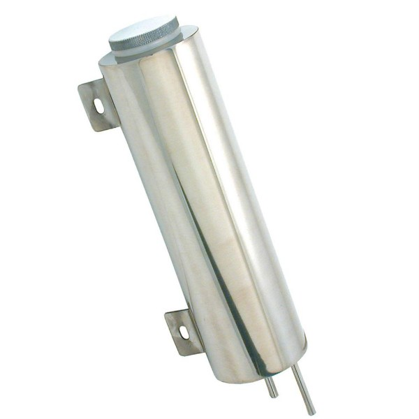 RADIATOR OVERFLOW TANK - STAINLESS - CYLINDER - 10 X 3""