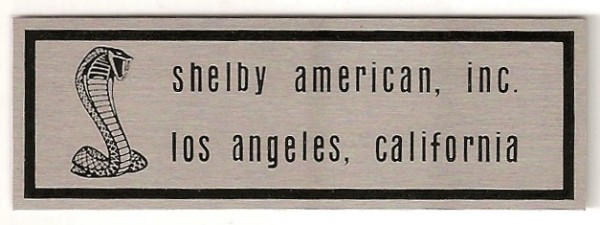67 SHELBY -2 LINE SILL PLATE DECAL