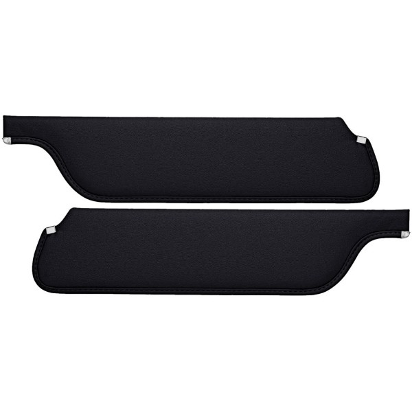 SUN VISORS 65-66 COUPE/FASTBACK BLACK - TMI