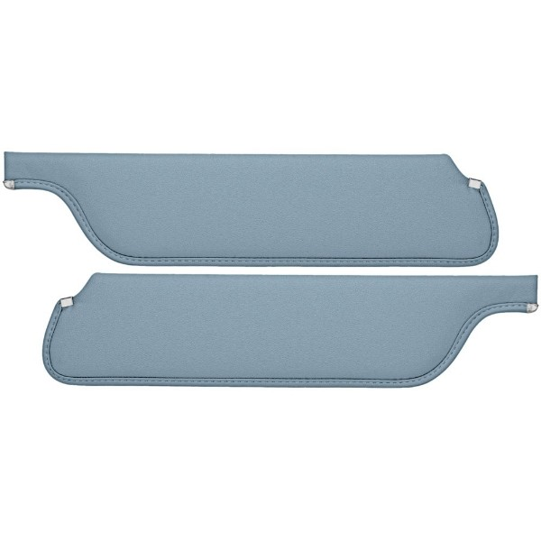 SUN VISORS 65-66 COUPE/FASTBACK LIGHT BLUE - TMI