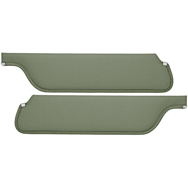 SUN VISORS 65-66 COUPE/FASTBACK LIGHT GREEN - TMI