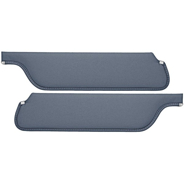 SUN VISORS 65-66 COUPE/FASTBACK MEDIUM BLUE - TMI