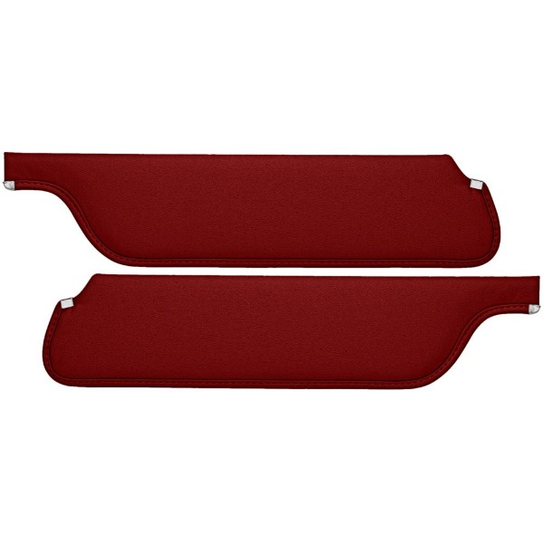 SUN VISORS 65 COUPE/FASTBACK RED - TMI