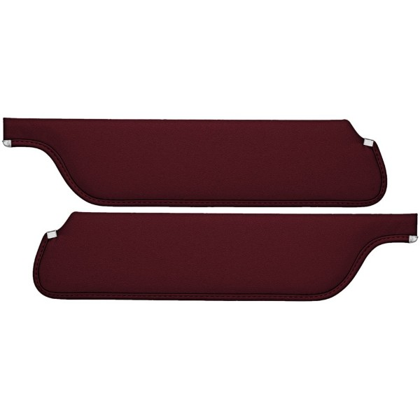 SUN VISORS 66 COUPE/FASTBACK RED - TMI