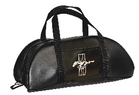 "LARGE TOTE BAG BLACK WITH EMBLEM - 21"" X 9"" X 9"""
