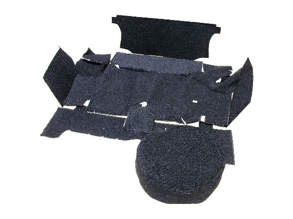 65-66 CARPETED TRUNK MAT KIT - BLACK