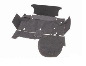 67-68 CARPETED TRUNK MAT KIT - BLACK