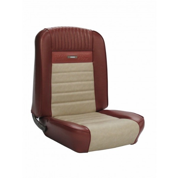 UPHOLSTERY 65 PONY COUPE FULL SET BRIGHT RED / WHITE - TMI