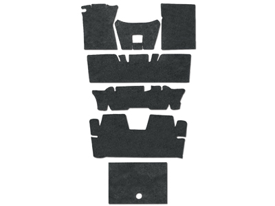 64-73 COUPE DELUXE UNDERLAYMENT SOUND DEADENER KIT - 8 PCS